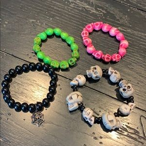 Spooky 💀🕸Bracelets -Set of 4